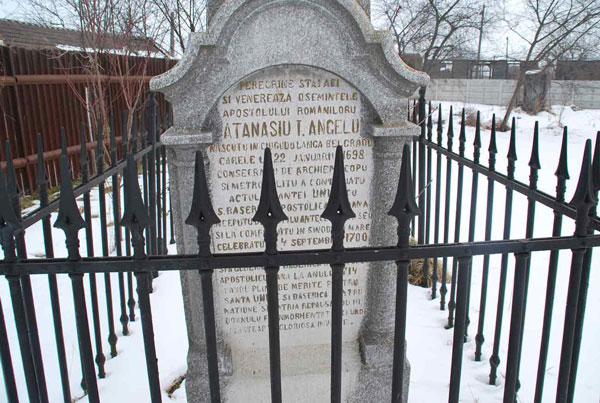 Mormântul Episcopului Atanasie Anghel, din Alba Iulia