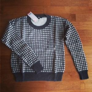 ユニクロ ジャガードクルーネックセーター