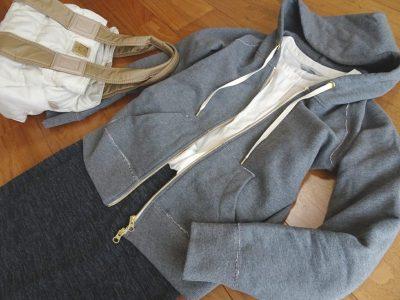ジップアップパーカー 30代ママ 春ファッション