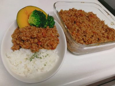 iwaki 冷凍みじん切り 玉ねぎ キーマカレー 耐熱ガラス容器 レシピ