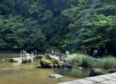 川遊び 三密回避 密にならない おすすめ 距離をとって休憩 養老渓谷