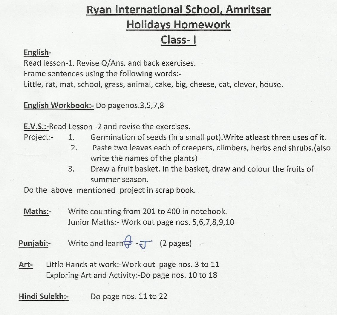 Cbse Class X Holiday Homework Essay Writing Skills