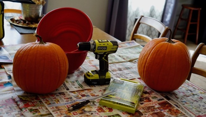 pumpkin carving power tools materials needed