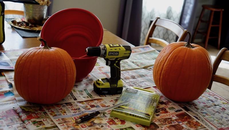 pumpkin carving power tools materials needed