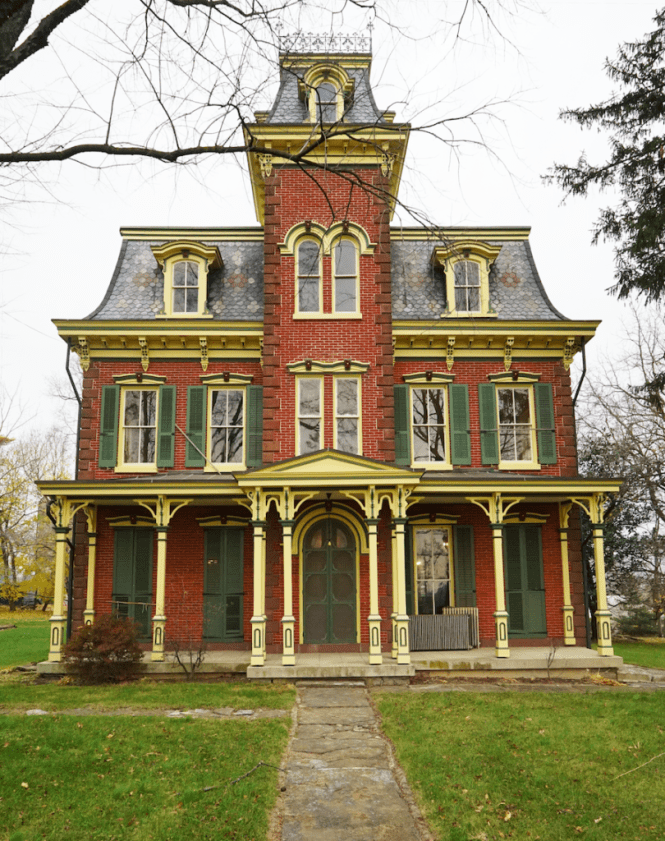 Isaac Long Mansion - Front - 1860
