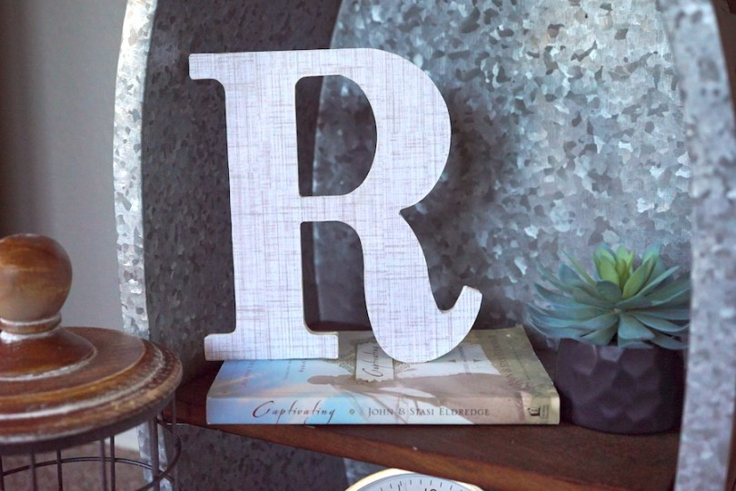 Decoupage Letter on Display
