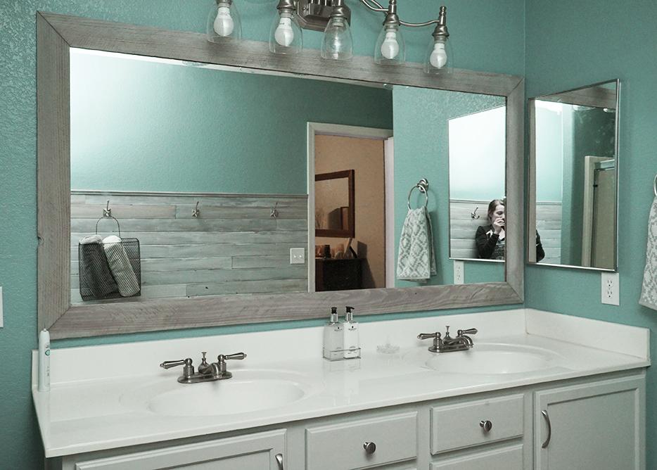 DIY Bathroom Mirror Frame for Under $10