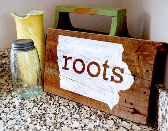 DIY Reclaimed Wood Sign - Final - Wood Sign With Reclaimed Wood DIY Iowa Roots Rise And Renovate