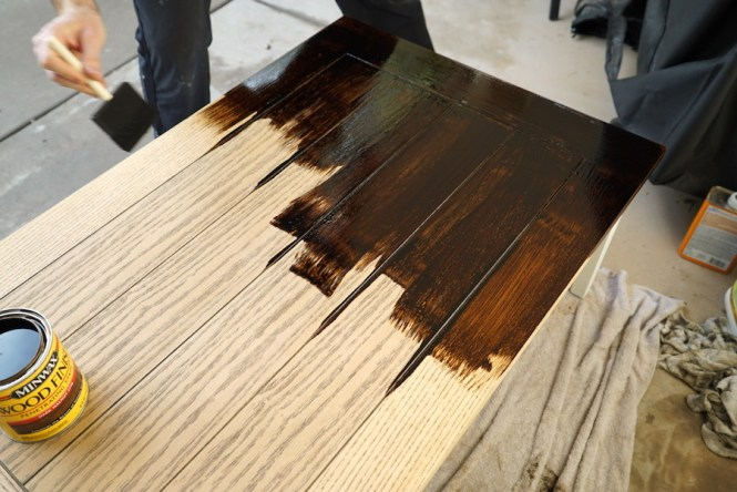 DIY Coffee Table - Staining