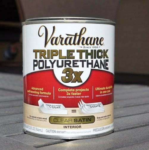 Coffee Table Refinishing - Polyurethane