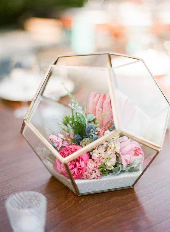 spring decor - geometric planter