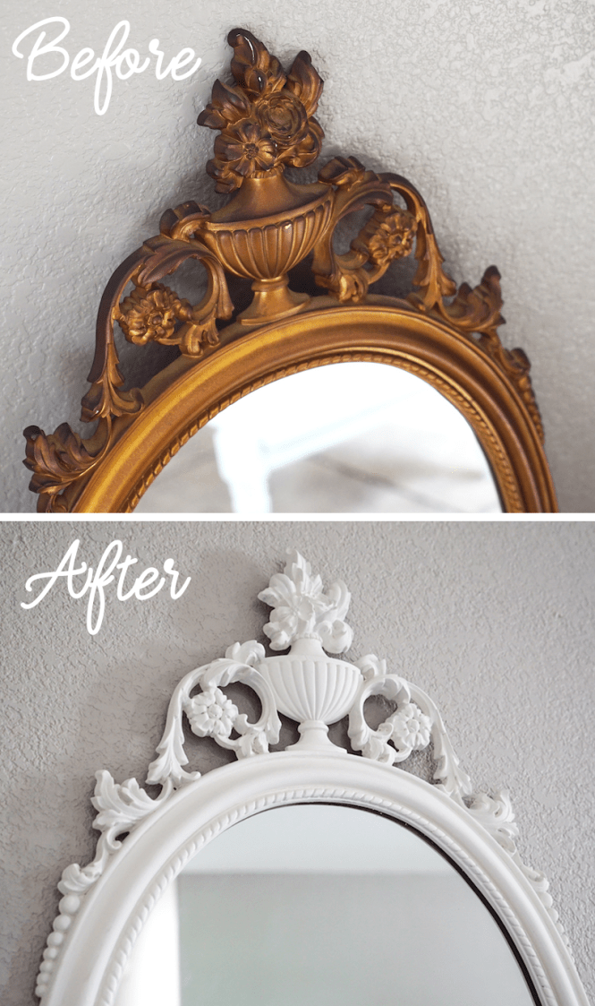 Chalk Painting An Antique Mirror Frame Tutorial Rise