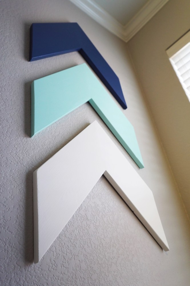How to Make Colorful DIY Chevron Arrows