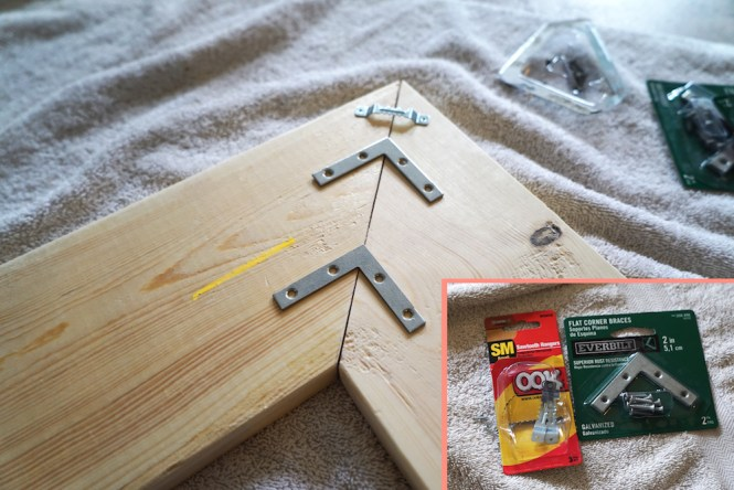 Hardware for DIY Chevron Arrows