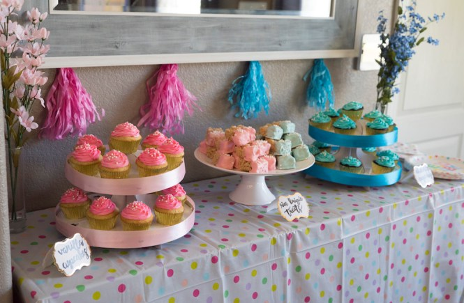 Gender Reveal Dessert Table