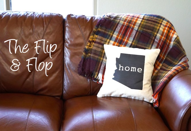 how to style a throw blanket - flip and flop