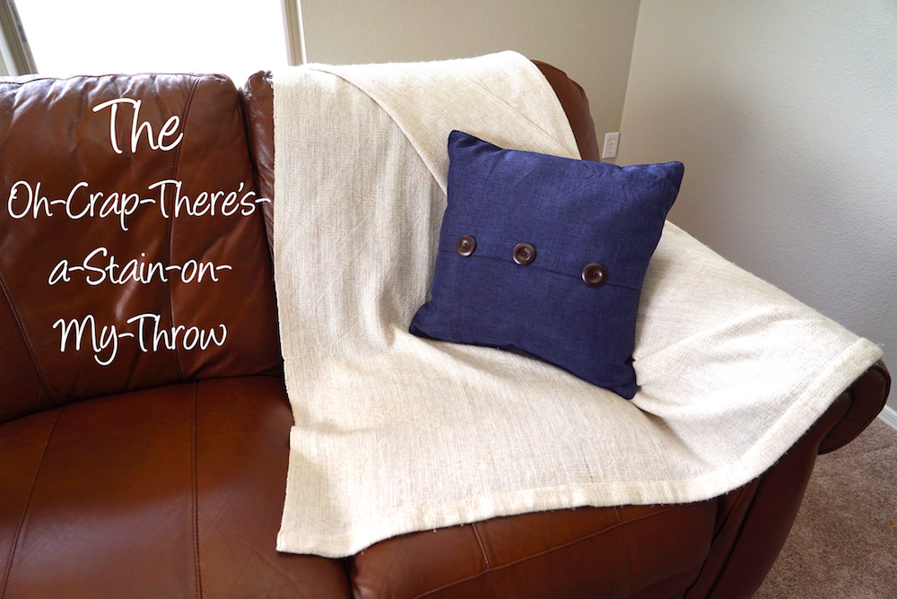 how to style a throw blanket - stain