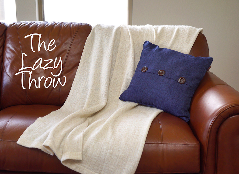 How To Style A Throw Blanket   Lazy Throw