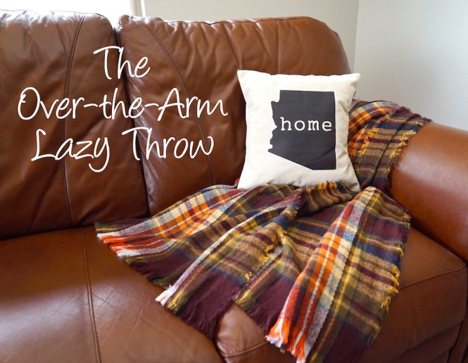 how to style a throw blanket - over the arm lazy throw