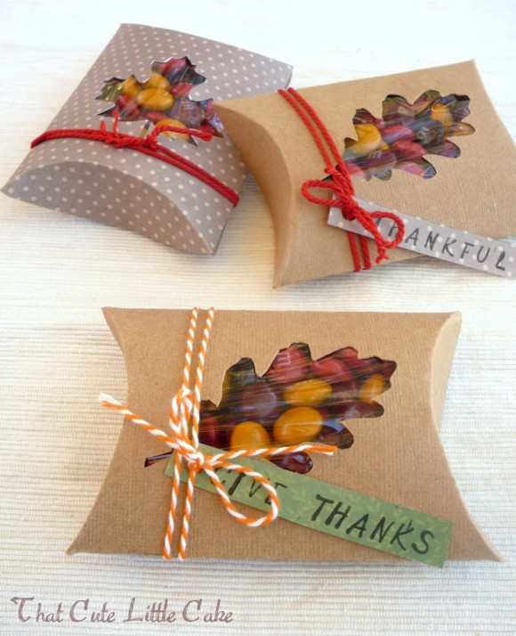 Thanksgiving Table Ideas - M&M Window Boxes