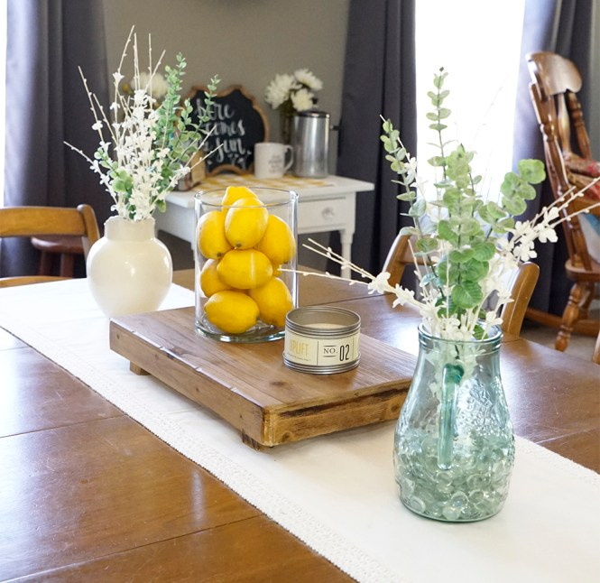 spring decor - kitchen table