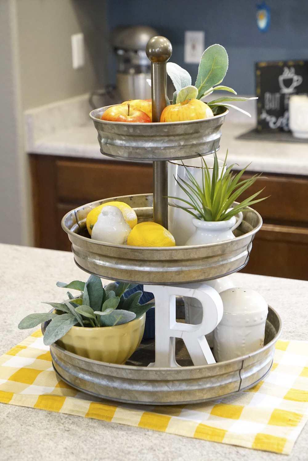 spring decor - serving stand