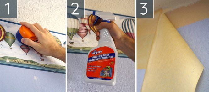 guest room makeover- how to remove wallpaper