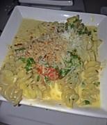 Mac n Cheese with parmesean, mascarpone, cheddar and panko