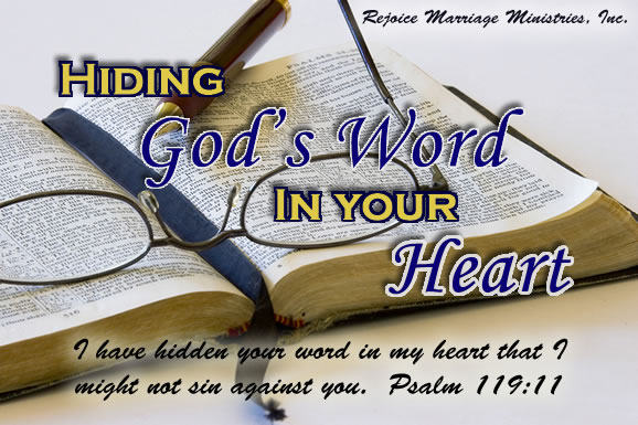 HIding gods word in your heart