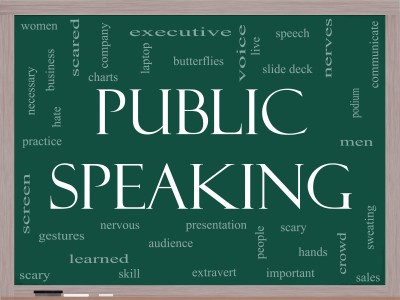 17685366_s -- public speaking on blackboard