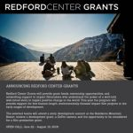 Apply for the Redford Center Grants Program 2016