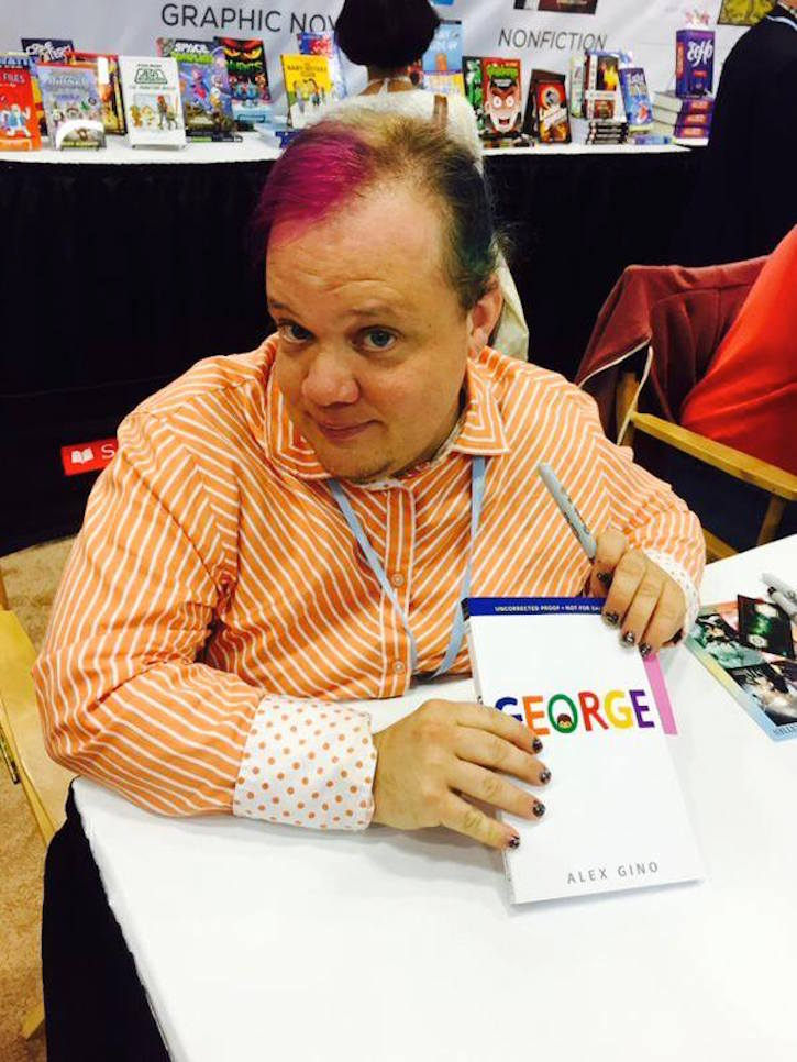 YA author Alex Gino at a book signing in 2015. Photo Credit: Alex Gino/Facebook