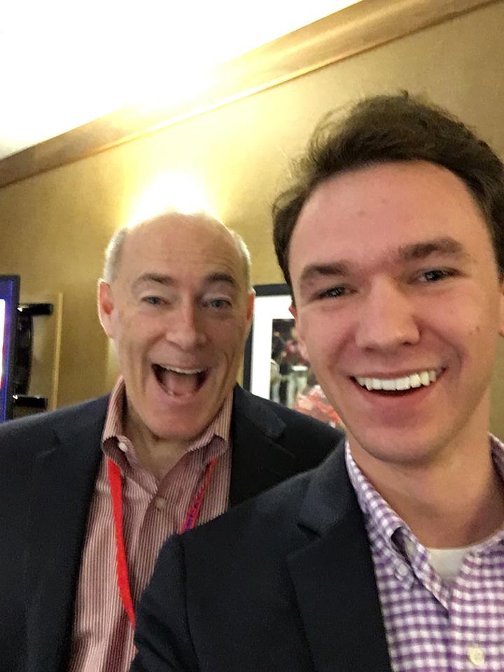 Megginson with well known Alabama weatherman James Spann at a conference.