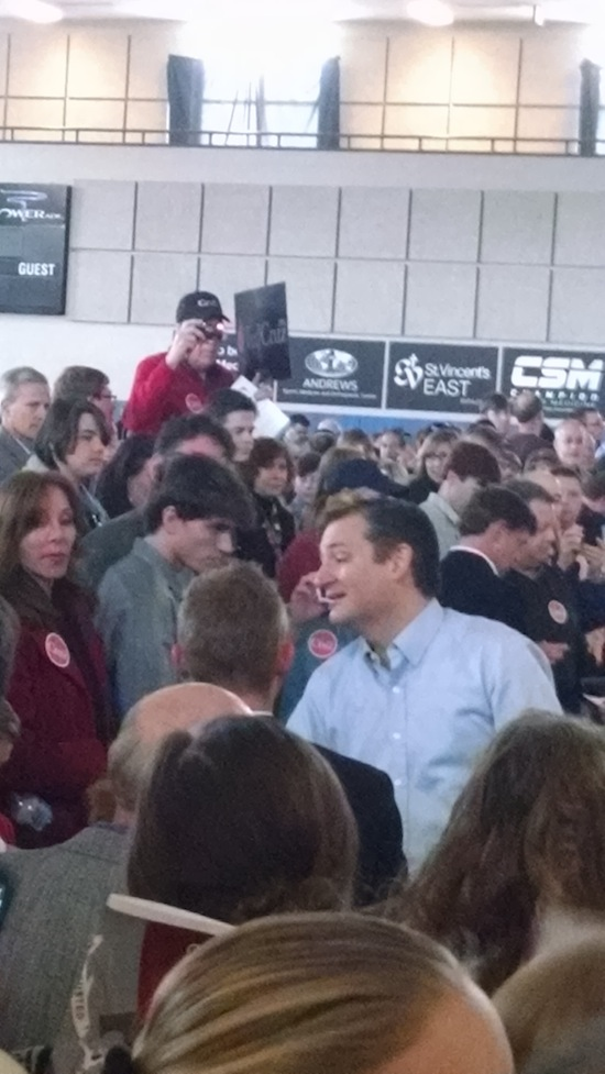 Ted Cruz greets voters at the Trussville Civic Center on Sunday Dec. 20, 2015. Photo Credit: John Massey/ Rise News