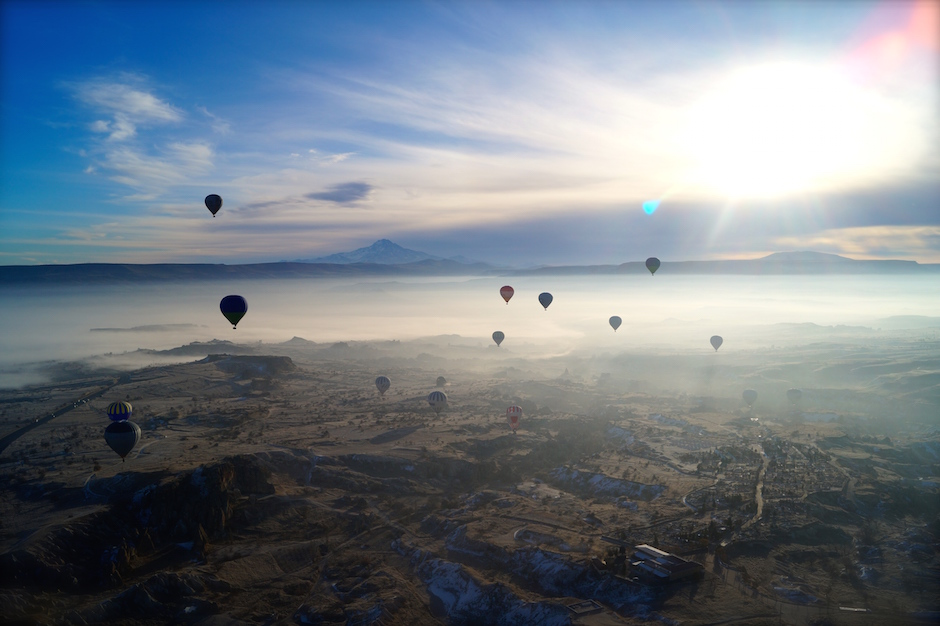 View from Hot Air Balloon, Cappadocia