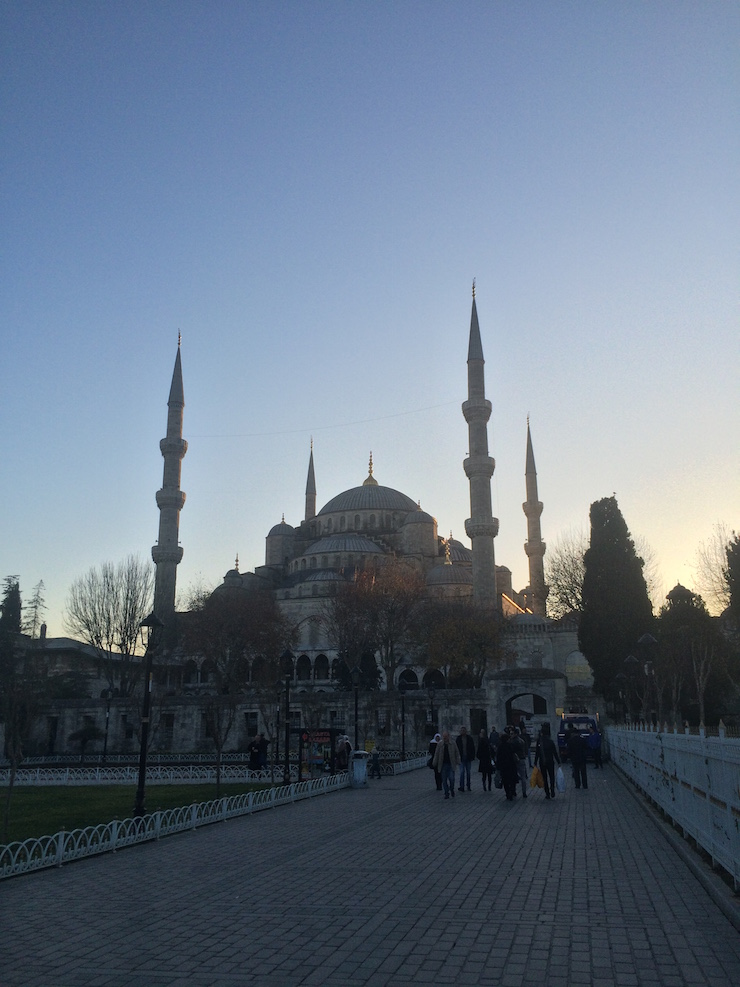Blue Mosque, Sultanahmet, Istanbul two weeks before a ISIS suicide bomber killed 10 German tourists there in a bombing.