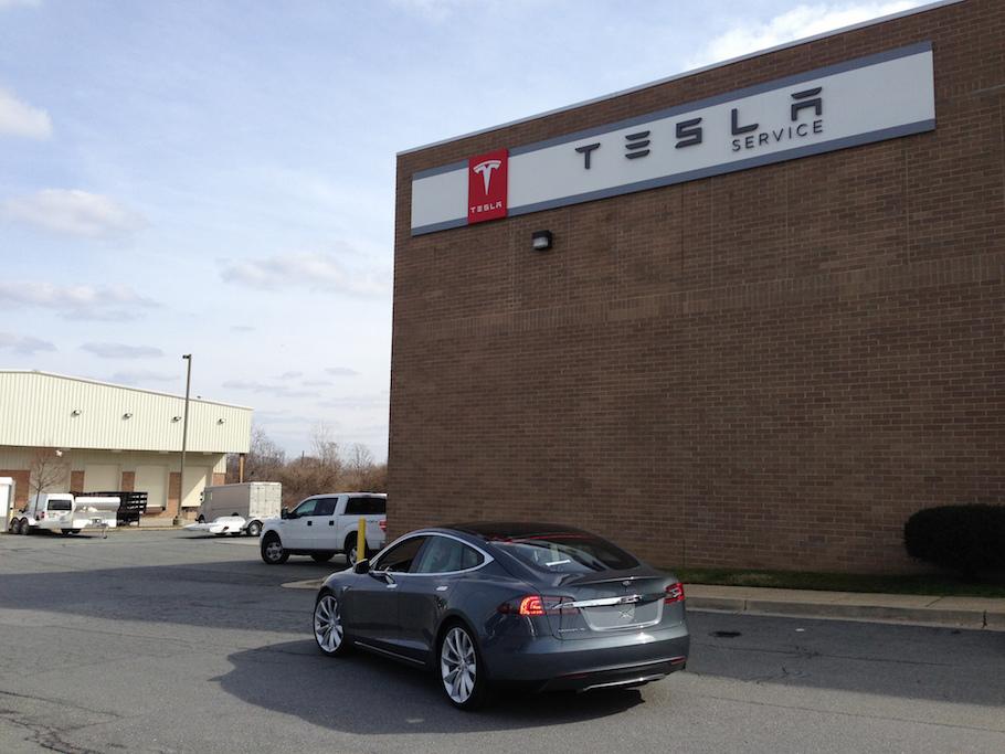 The Tesla Model S. Photo Credit: Christopher Dorobek/ Flickr (CC By 2.0)