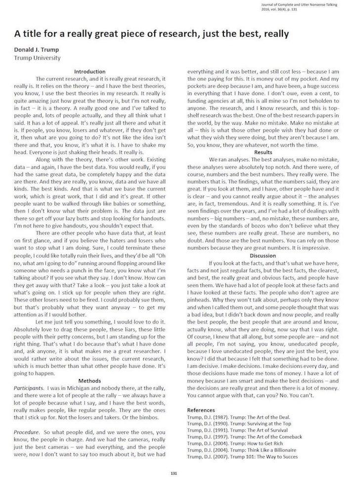IfTrumpPublishedAcademicArticle