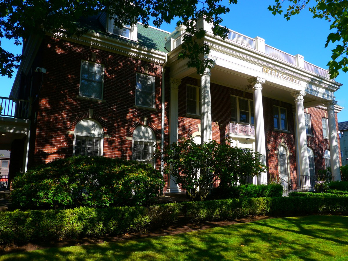 The Delta Gamma House on the University of Oregon campus. Photo Credit: Rick Obst/ Flickr (CC By 2.0)