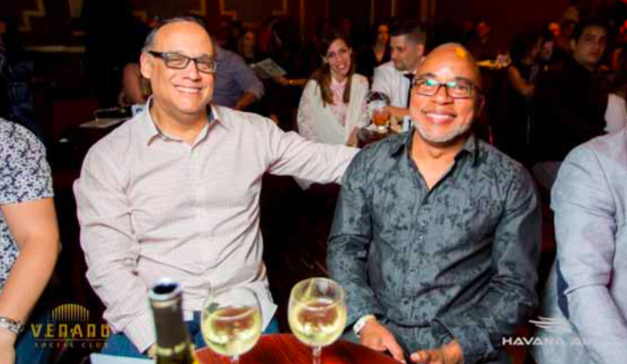 MARCH 11, 2016 (FRIDAY NIGHT): After dinner, Father Pedro and Alberto Cardenas went to the Flamingo Theater Bar to watch a show by Cuban signer Carlos Varela. Below are three photographs taken by the bar's official photographer.