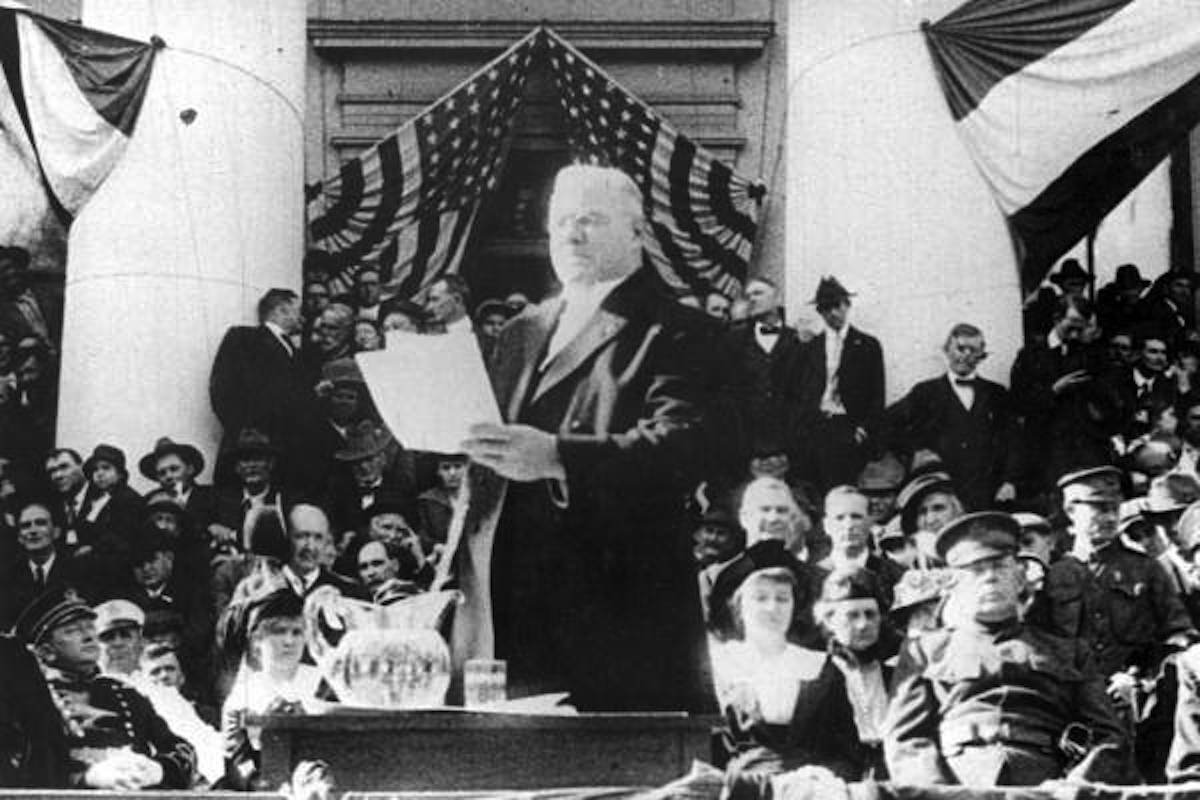 Cats giving his inaugural address. Photo Credit: Florida Memory.
