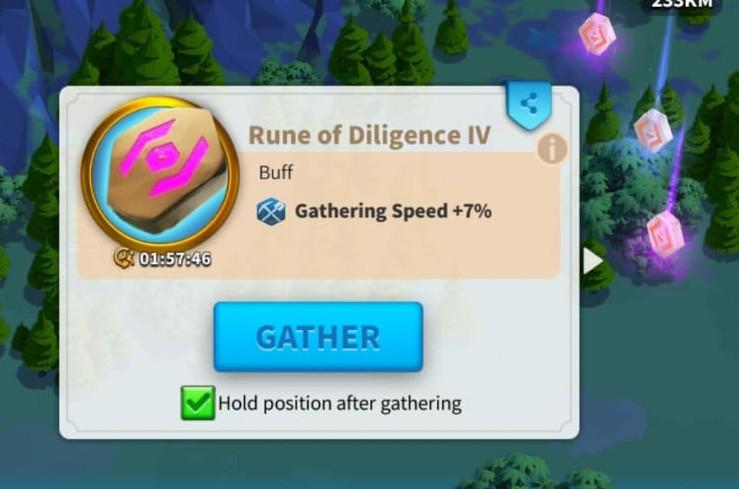 Rune im Aufstieg der Königreiche sammeln, um die Sammelgeschwindigkeit zu erhöhen