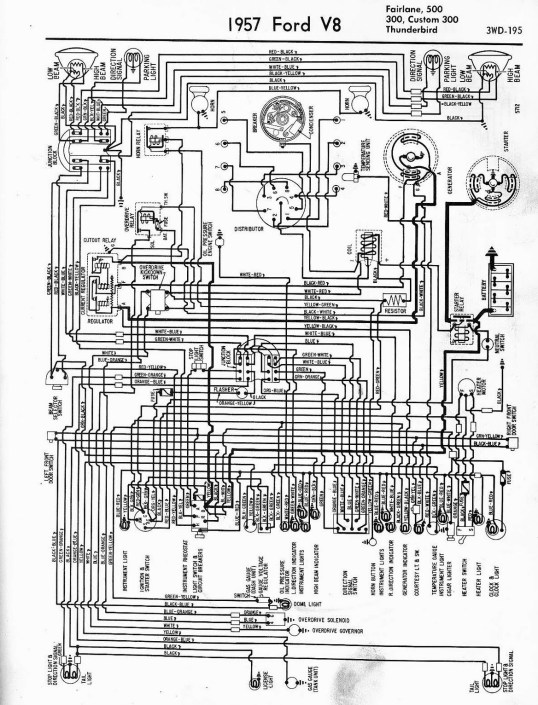 1955 T Bird Wiring Diagram 1955 55 Ford Thunderbird T Bird