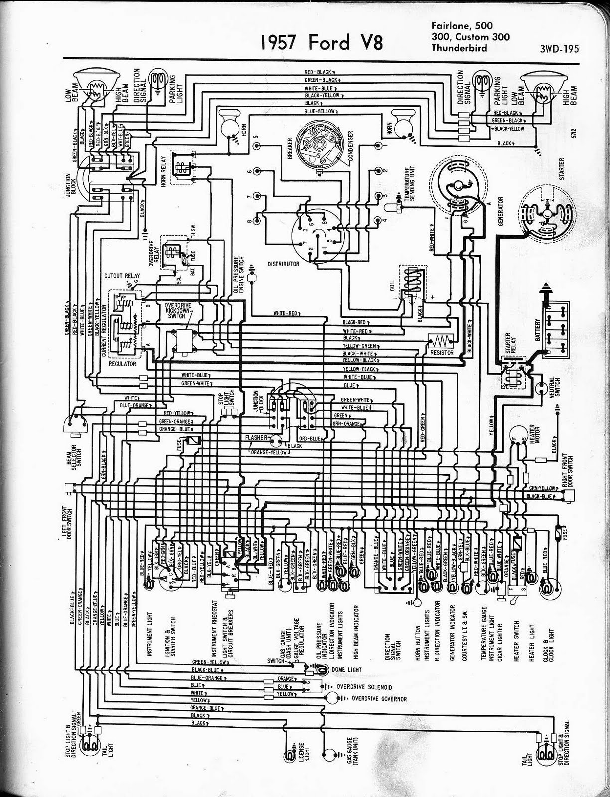 1955 ford fairlane wiring diagram air compressor piping layout 1956 harness all data1957 thunderbird schematic detailed