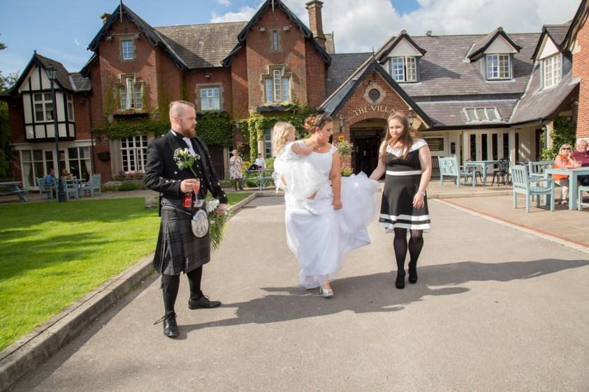 wedding at villa wrea green, preston