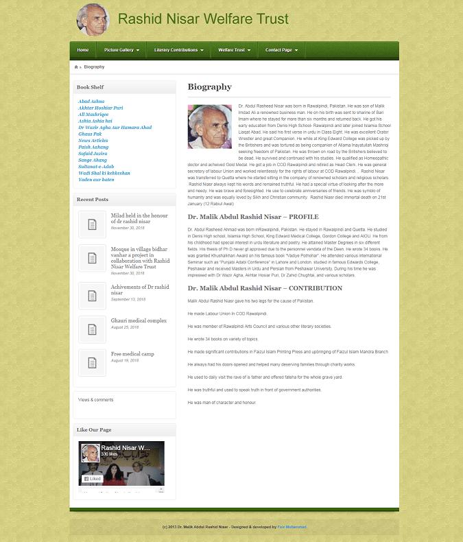 Rashid Nisar Welfare Trust