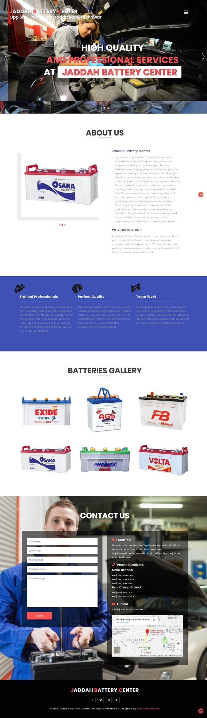 Jaddah Batteries & Auto Parts Center Peshawar