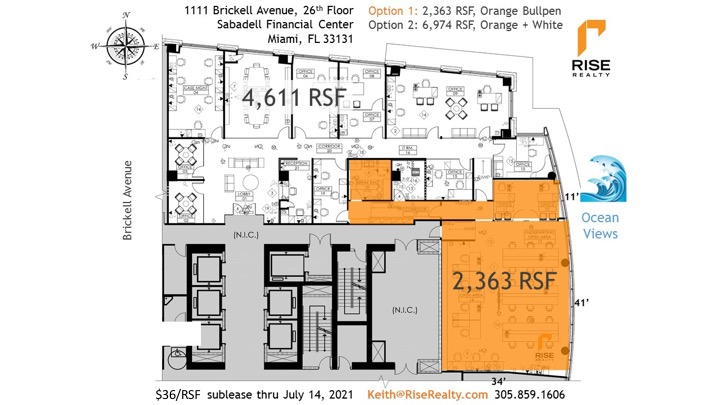 Barents' Office Bullpen Sublease in Brickell Miami Florida