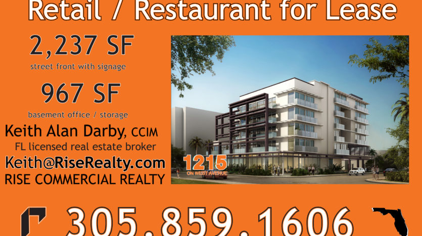 1215 West Avenue retail or restaurant lease