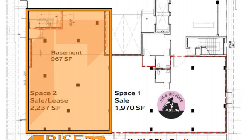 1215 West Avenue Joe & The Juice ABAE Hotel South Beach Miami retail floor plan by Rise Realty